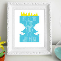 Where The Wild Things Are Customized Print 8 x 10