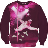 Sloth Sweatshirt, Stripper Sloth, Sweater, Warm Long Sleeve, Available S-2XL