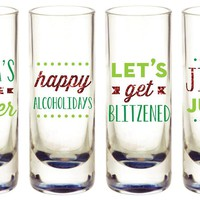 Silly Christmas Shot Glasses