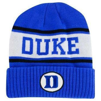 NIKE DUKE BLUE DEVILS SIDELINE CUFFED KNIT HAT