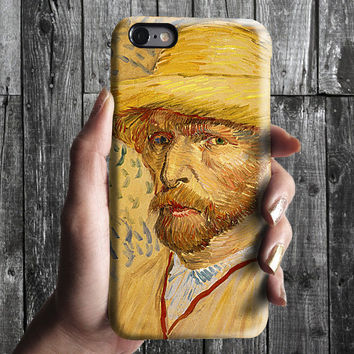 Selfportrait 2 - Van Gogh iPhone Case 6, 6S, 6 Plus, 4S, 5S. Mobile Phone Cell. Art Painting. Gift Idea. Anniversary. Gift for him and her