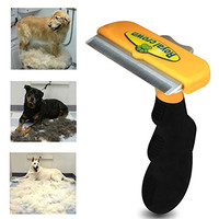 Dog & Cat Brush For Shedding, Best Long & Short Hair Pet Grooming Tool, Reduces Dogs and Cats Shedding Hair By More Than 90%, The Chirpy Pets Deshedding Tool