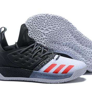 ADIDAS HARDEN VOL. 2 WHITE/BLACK/RED BASKETBALL SHOE