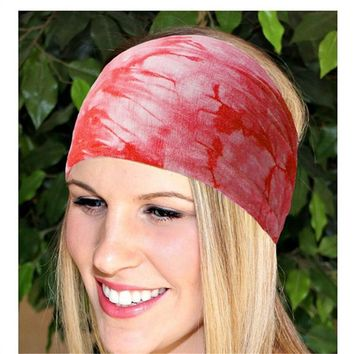 Ladies BOHO Tie Dye Cotton Headbands Bandana Turban Head Wrap Elastic For Women Girl Hair Bands Hair Accessories Bandage