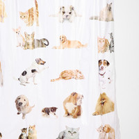 Cats And Dogs Shower Curtain