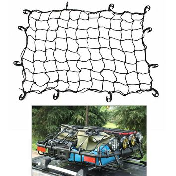 120x90cm 10 Hook Elastic Car Cargo Net Mesh Strorage Organizer Trailer Roof Rack Boot Luggage Bungee Cord Cargo Net