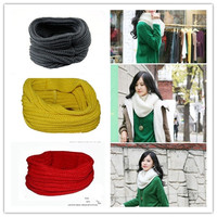 Cotton Knit Neck Circle Scarfs Shawl Wraps Loop Winter Warm Vogue = 1930491780