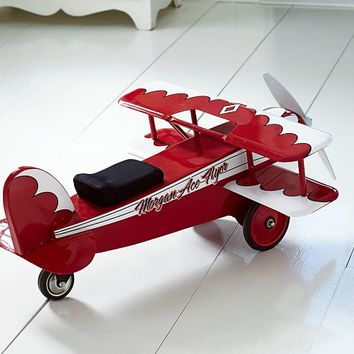 Red Airplane Ride-On