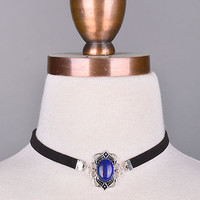 Jewel Blue Stone Choker
