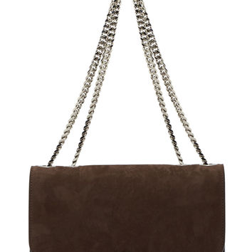 Marc Jacobs Taupe Suede Chain Strap Trouble Bag