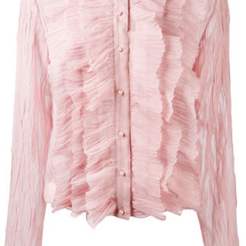 Givenchy Crepe Ruffled Blouse - Farfetch