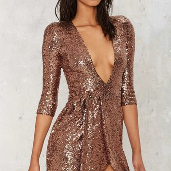 Zhivago Sovereign of Stars Sequin Wrap Dress