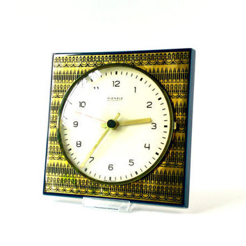 Vintage wall clock Kienzle West German gold by MightyVintage