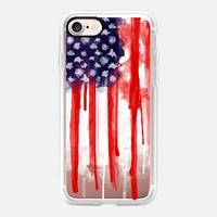 American Spatter Flag - Transparent iPhone 7 Case by Nicklas Gustafsson | Casetify