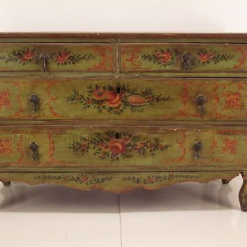 Venetian Painted Commode or chest of Drawers