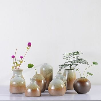 Japanese-style Brief Ceramic Mini Flower Vases