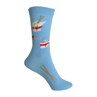 Take Out Crew Socks in Blue