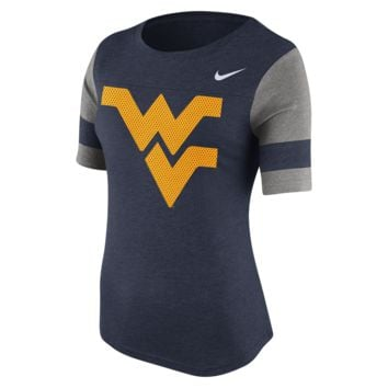 Nike Stadium Fan (West Virginia) Women's Top Size Large (Blue)