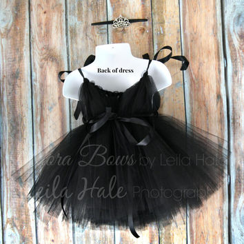 Baby Audrey Hepburn set Tutu dress with tiara headband old hollywood costume dress up set photography prop Breakfast at Tiffany's NB baby