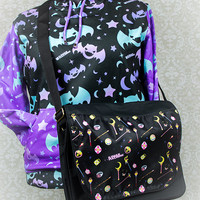 Choose Your Weapon Magical Girl Items Printed Messenger Bag Fairy Kei Pastel Goth Kawaii