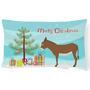 Cotentin Donkey Christmas Canvas Fabric Decorative Pillow BB9216PW1216