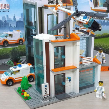 New Original Kazi City Rescue Center Building Blocks 450pcs set Rescue Hospital Model Bricks Toys Compatible with Lego 85007