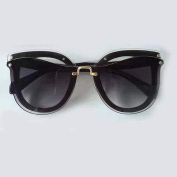 Sunglasses Women Oval Style High Quality Acetate Frame Gradient Lens Eyewear Oculos De Sol Feminino Sun Glasses