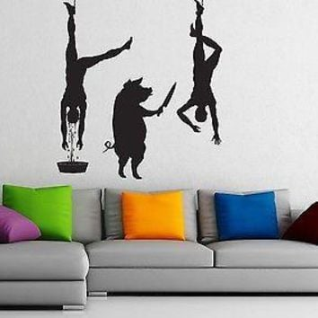 Wall Stickers Vinyl Decal Pig Butcher Killing Joke People Unique Gift z1016