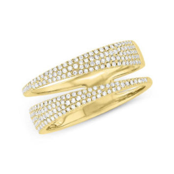 0.45ct 14k Yellow Gold Diamond Pave Lady's Ring