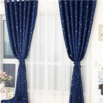 Star Print Curtain Panel Window Balcony Room Divider Curtain Multicolors