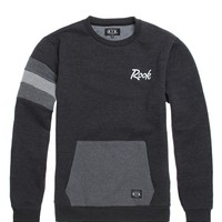 Rook Luke Crew Fleece - Mens Hoodie - Black