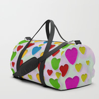So sweet and hearty as love can be Duffle Bag by Pepita Selles