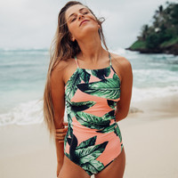 New Arrival Sexy Beach Swimsuit Summer Hot Swimwear Leaf Print Bikini [11700578895]
