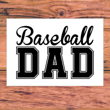 Baseball Dad Decal | Baseball Mom Decal | Baseball Family Decal | Baseball Softball Sports Monogram Decal | Baseball Parent | 257