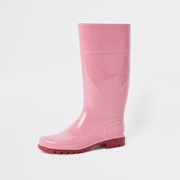 Pink glitter sole wellie boots - Boots - Shoes & Boots - women