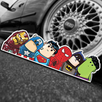 Car Styling Super Hero Hitchhike Save The World Moto Stickers Motorcycle Decal