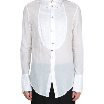 If six was nine Cotton shirt with plastron