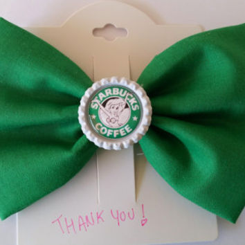 Ariel starbucks bow / The Little Mermaid / hair bow / girls hair bow / princess ariel bow / fabric bow / mermaid bow / starbucks / disney