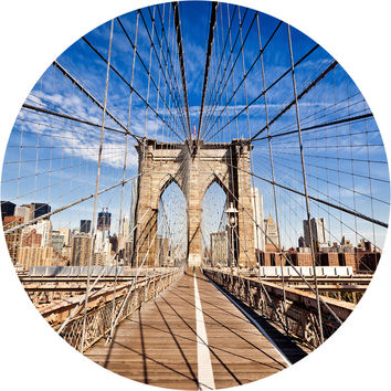 Brooklyn Bridge Circle Wall Decal