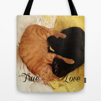 Kitty Love Tote Bag by StarLitDreamer