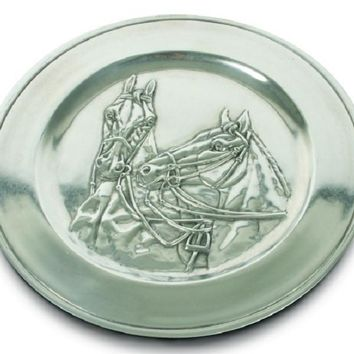 Pewter Thoroughbred Horse Charger