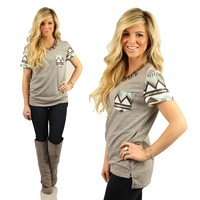 Tres Chic Tribal Pocket Top