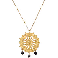 Mandala Black Spinel Necklace