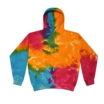 Tie Dye Pullover Multi Color Colorful Multi Rainbow Hoodie