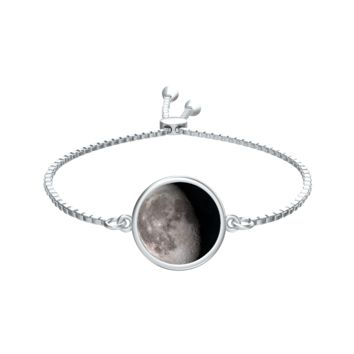 Personalized Moon Phase Silver Aya Bracelet