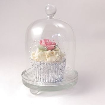 Glass Dome Cupcake Stand