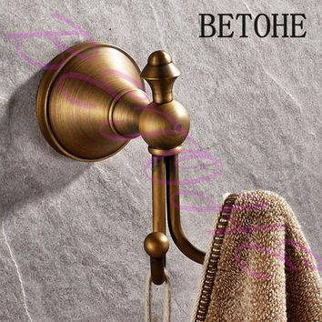 BETOHE Bathroom Accessories European Antique Bronze Robe Hook ,copper Clothes Hook,Coat Hook,Bathroom Products