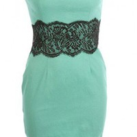 The Chicago Lace Trim Dress - 29 and Under