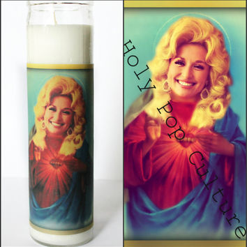 Saint Dolly Parton Prayer Candle - Kitsch - Christmas Gag Gift - Religious Humor