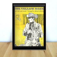 The Yellow Rose, Western Themed Piano Solo Sheet Music {1984} Vintage Paper Ephemera